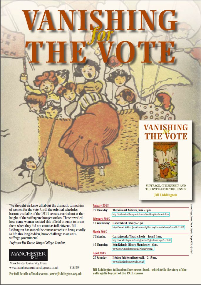 Vanishing the Vote - 18th Feb. Huddersfueld Library